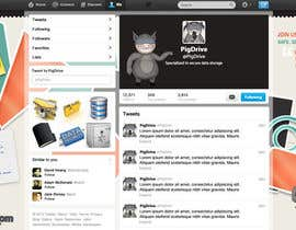 #15 untuk Design a Twitter background for pigdrive.com oleh DanaDouqa