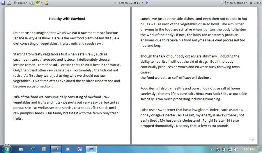 #14 for Write some Articles for Rawfood / Detox by evanuril