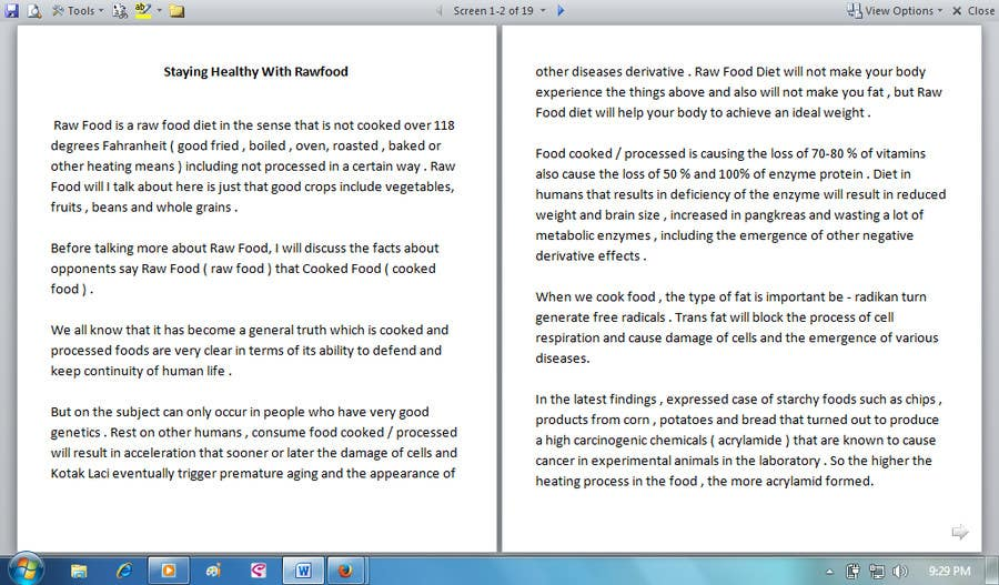 #21 for Write some Articles for Rawfood / Detox by evanuril