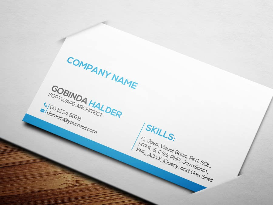 Entry #7 by smartghart for Need a business card for a software ...