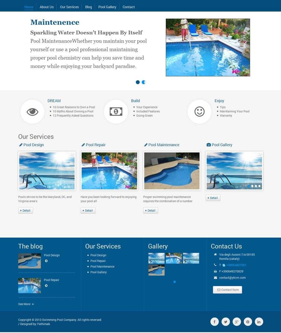 wordpress template for swimming pool company freelancer. Black Bedroom Furniture Sets. Home Design Ideas