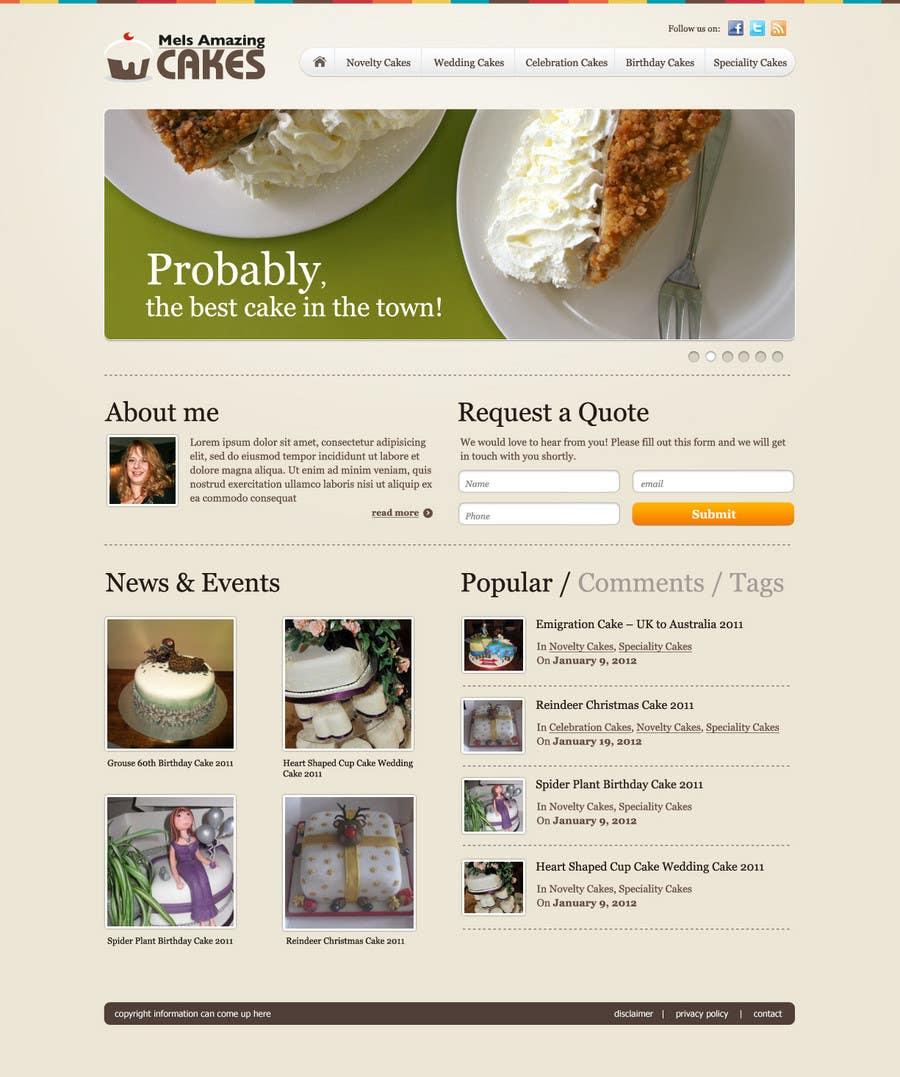Inscrição nº                                         57                                      do Concurso para                                         Wordpress Theme Design for Melanies Amazing Cakes