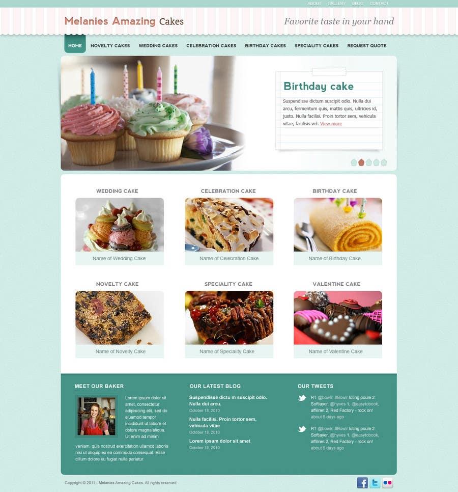 Inscrição nº                                         41                                      do Concurso para                                         Wordpress Theme Design for Melanies Amazing Cakes