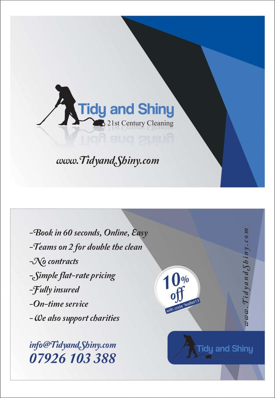 Konkurrenceindlæg #7 for Design a Flyer for Tidy and Shiny Cleaning