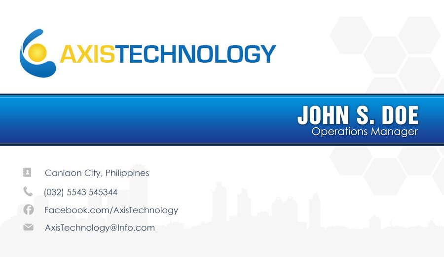 #103 for Inspiring Business Card & logo Design for Technology company by Genshanks