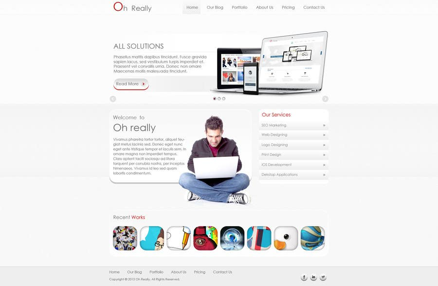 #1 for Design a clean and modern original PSD template by tania06