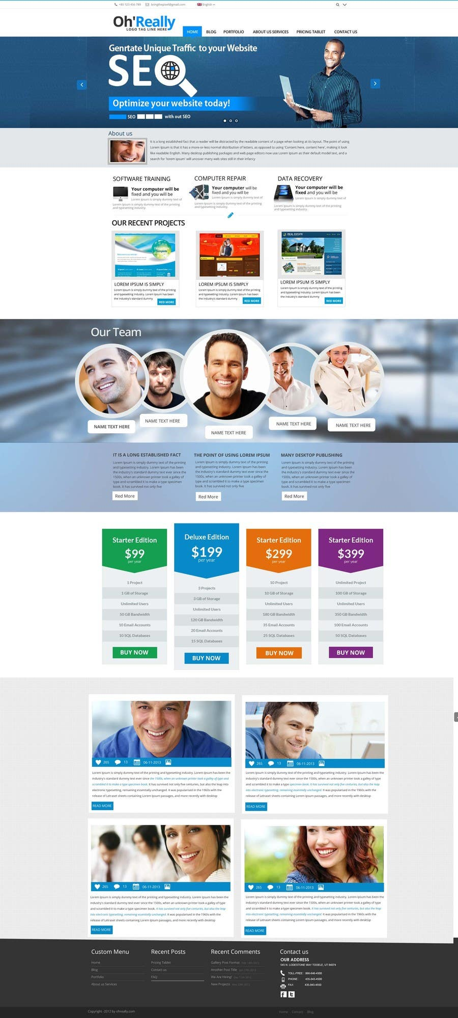 #9 for Design a clean and modern original PSD template by MagicalDesigner