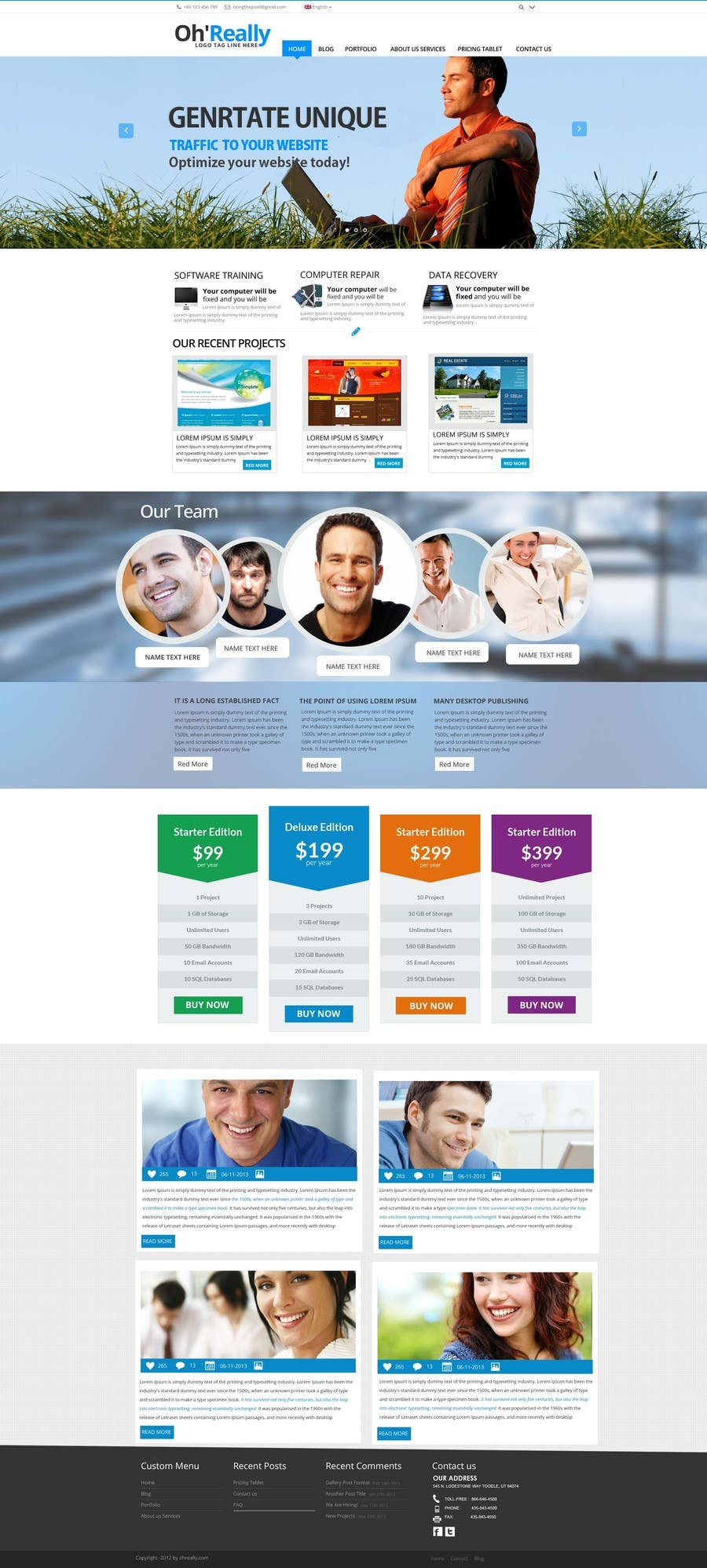 #11 for Design a clean and modern original PSD template by MagicalDesigner