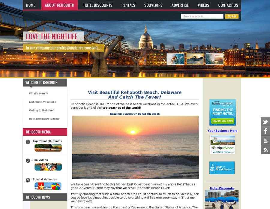 Bài tham dự cuộc thi #2 cho Travel/Beach Website Needs A New Look