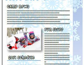 nº 3 pour Design a Brochure for kids ski camps,husky outings and christmas present ideas par artistamibrown