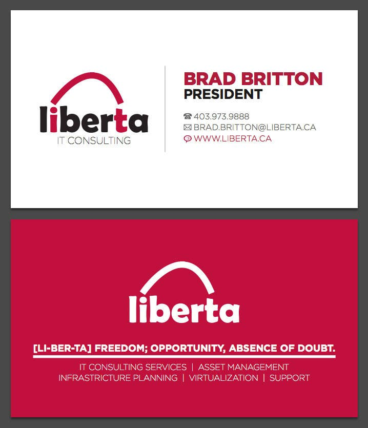 Proposition n°14 du concours Design some Business Cards for My IT Company
