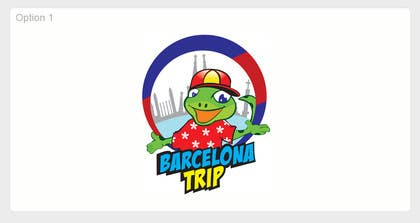 Graphic Design Contest Entry #26 for Barcelona Trip Website Logo with a Character Mascot (read carefully my requirements)