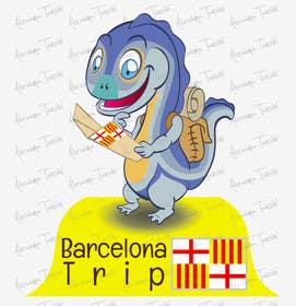 Graphic Design Contest Entry #52 for Barcelona Trip Website Logo with a Character Mascot (read carefully my requirements)