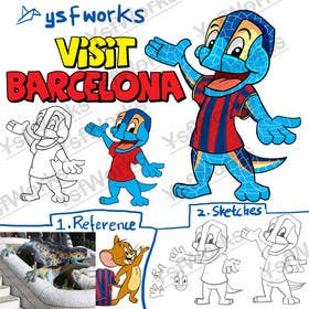 Graphic Design Contest Entry #38 for Barcelona Trip Website Logo with a Character Mascot (read carefully my requirements)