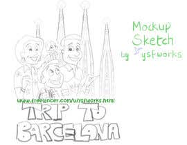 #48 for Barcelona Trip Website Logo with a Character Mascot (read carefully my requirements) af ysfworks