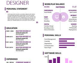 jhosser tarafından Create as many unique Resume templates as you can in a week -- 1 için no 19