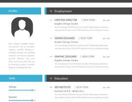 jhosser tarafından Create as many unique Resume templates as you can in a week -- 1 için no 26