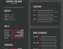 jhosser tarafından Create as many unique Resume templates as you can in a week -- 1 için no 44