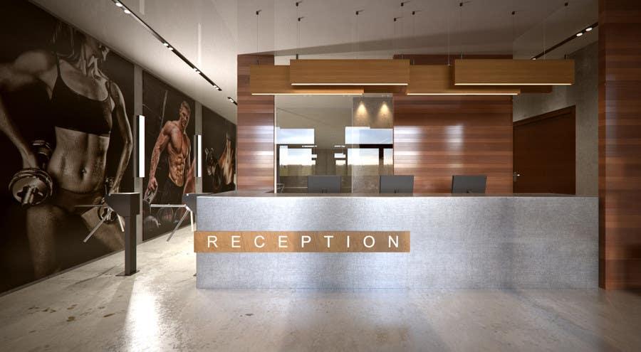 3d interior design for adult gym freelancer for Gym interior design