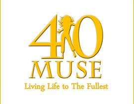 #34 para Logo Design for 40muse.com,a digital publication for black women ages 40+ por rickyruto
