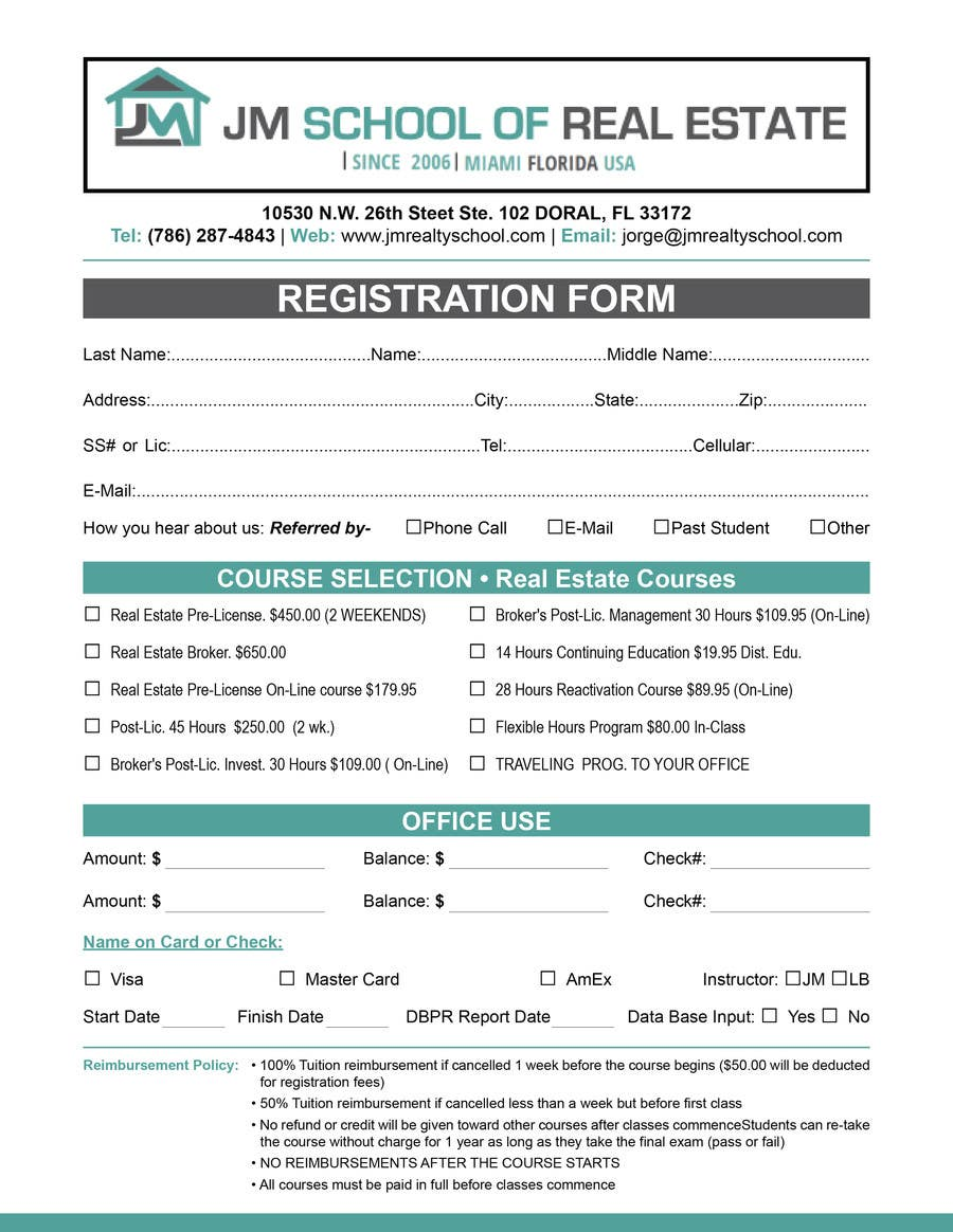 Design a School Office Form Template Application – School Application Template