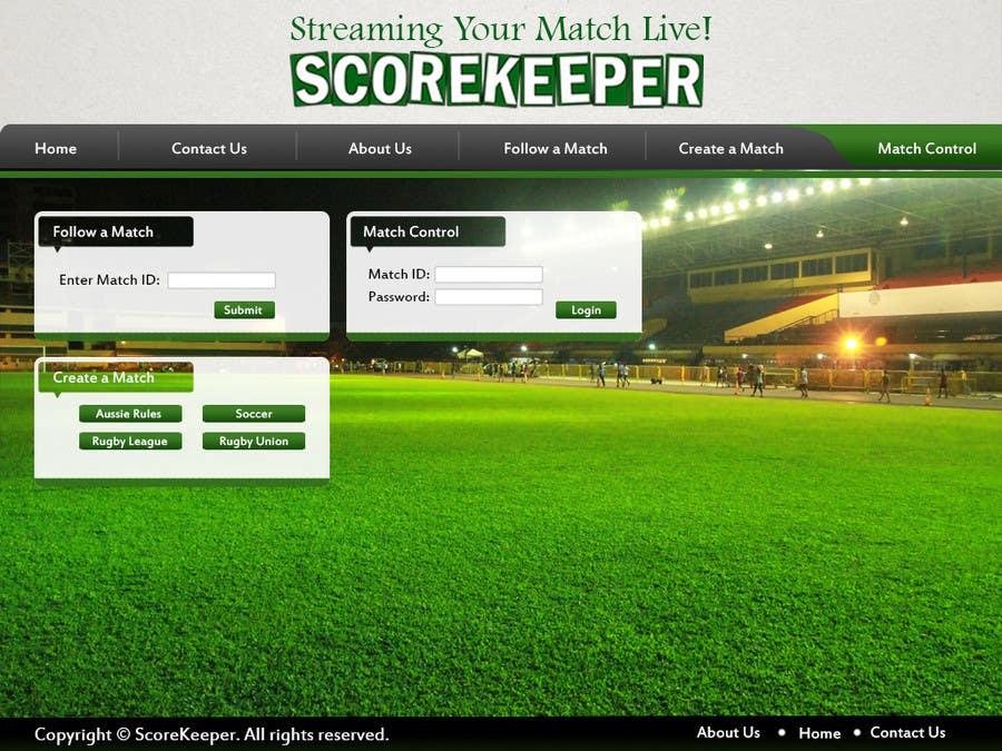 Konkurrenceindlæg #9 for Design a Website Mockup for ScoreKeeper