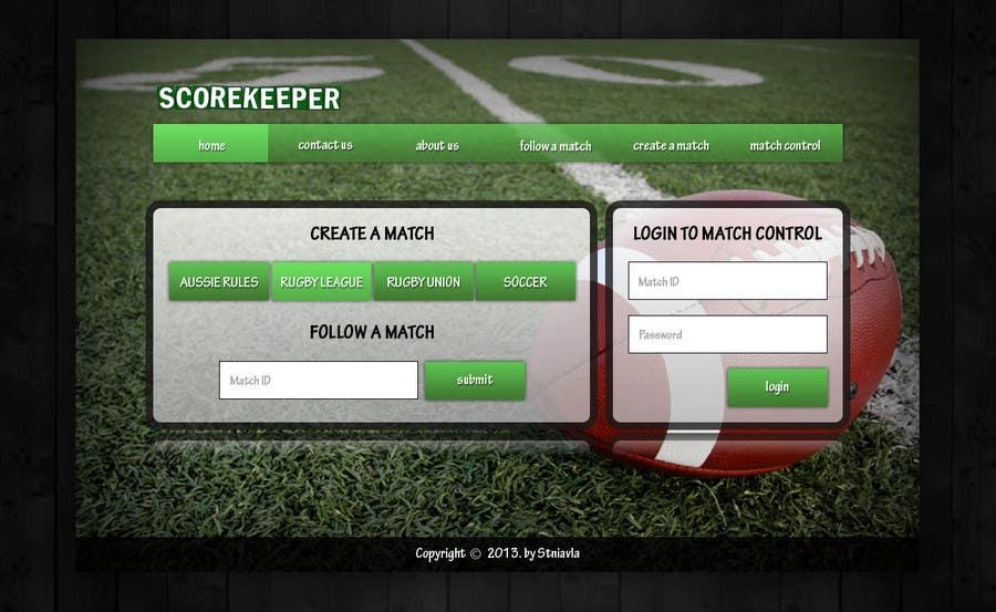 Konkurrenceindlæg #4 for Design a Website Mockup for ScoreKeeper