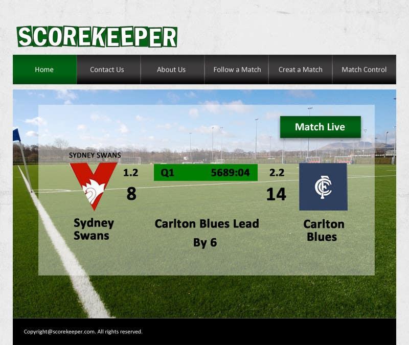 Konkurrenceindlæg #10 for Design a Website Mockup for ScoreKeeper