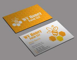Nro 22 kilpailuun I need a busines card designed around or with our company logo.  We have a local bee business. käyttäjältä jewel2ahmed
