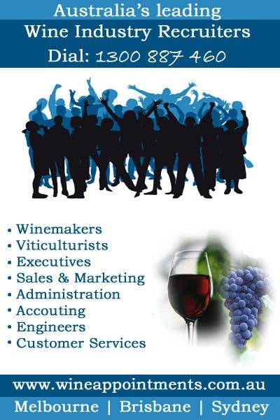 Penyertaan Peraduan #4 untuk Design an Advertisement for recruitment into the wine industry