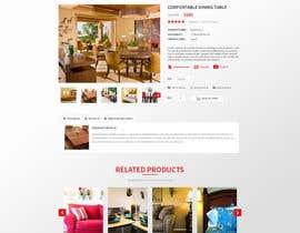 Nro 87 kilpailuun Design a single product page mockup for furniture ecommerce käyttäjältä Makkina