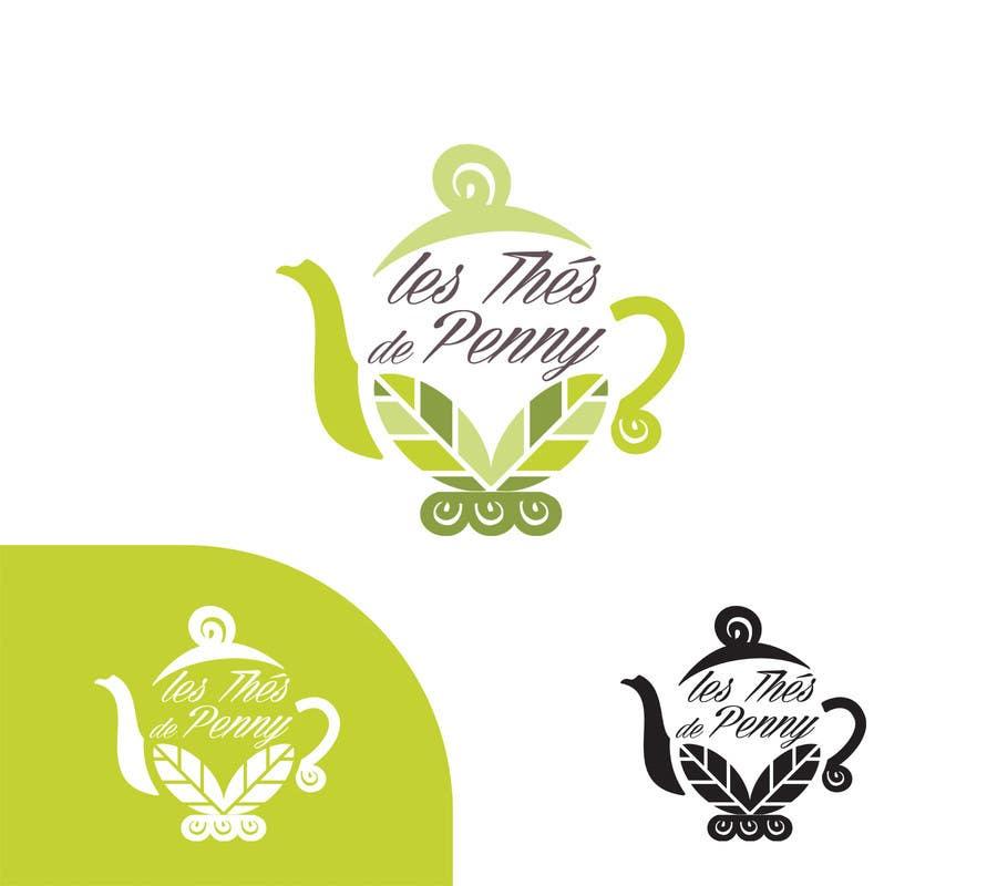 Penyertaan Peraduan #                                        47                                      untuk                                         Logo for a young girl home grown herbal tea compagny (les Thés de Penny)