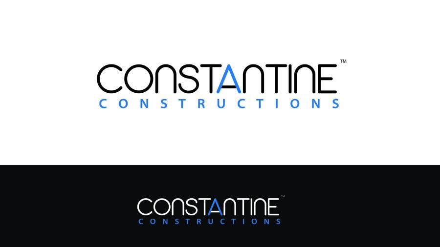 Kilpailutyö #317 kilpailussa Logo Design for Constantine Constructions