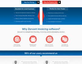nº 7 pour Redesign Front Page of Zervant Website par atularora