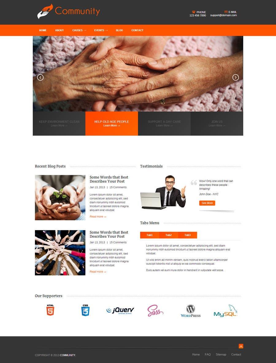 Penyertaan Peraduan #20 untuk Community Service Website Design