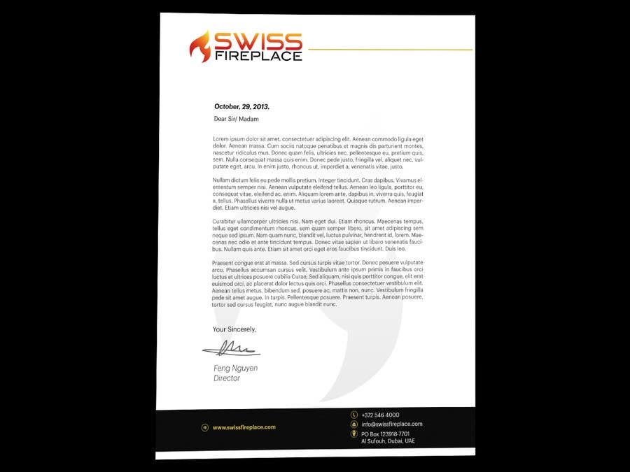 Penyertaan Peraduan #15 untuk Letterhead Design (Only a regular A4 Page) for my company