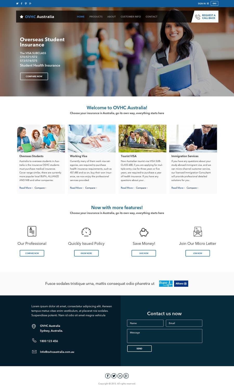 Kilpailutyö #21 kilpailussa Re-design a Website for www.ovhcaustralia.com