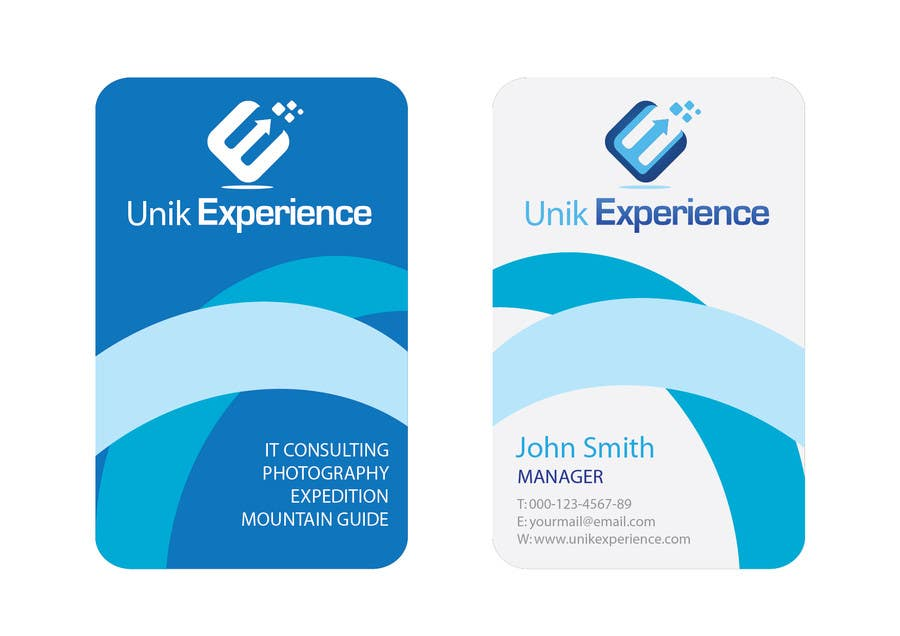 #8 for Design Business Cards for Unik Experience by doppelgangerz