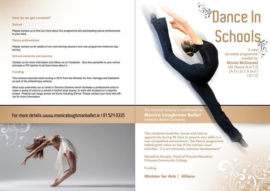 Inscrição nº 1 do Concurso para Design a Brochure for a Dance in Schools Programme