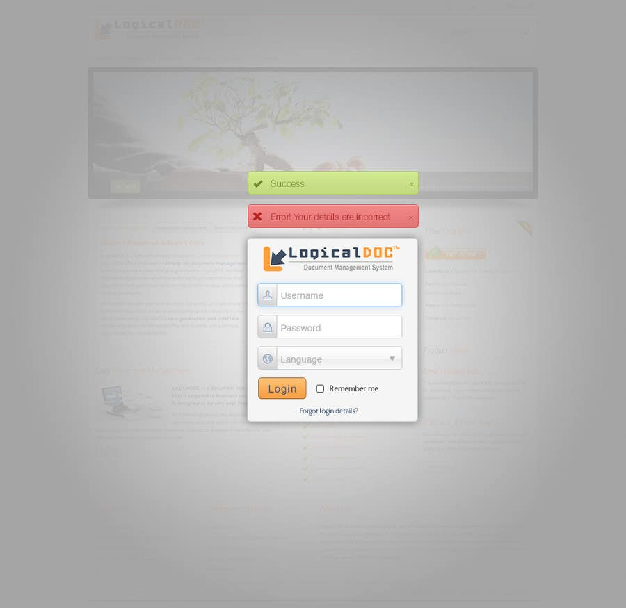 #6 for I need some Graphic Design for Login web-page by tmacka88