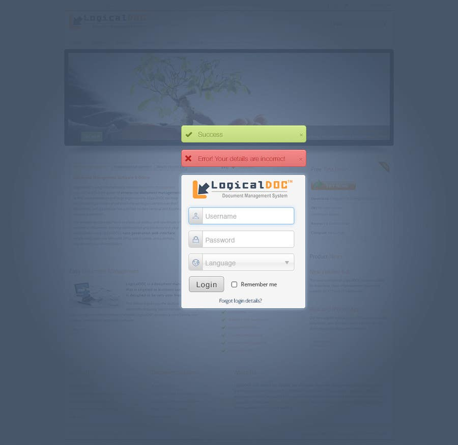 #9 for I need some Graphic Design for Login web-page by tmacka88