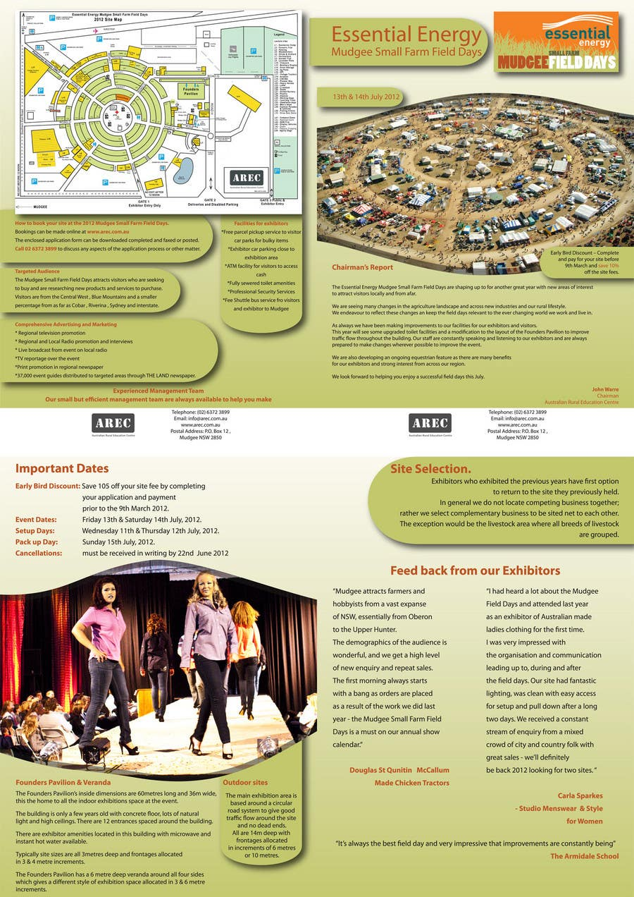 #12 for Brochure Design for Mudgee Small Farm Field Days by maq123