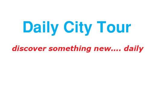 Inscrição nº 315 do Concurso para Slogan Project - City tour.