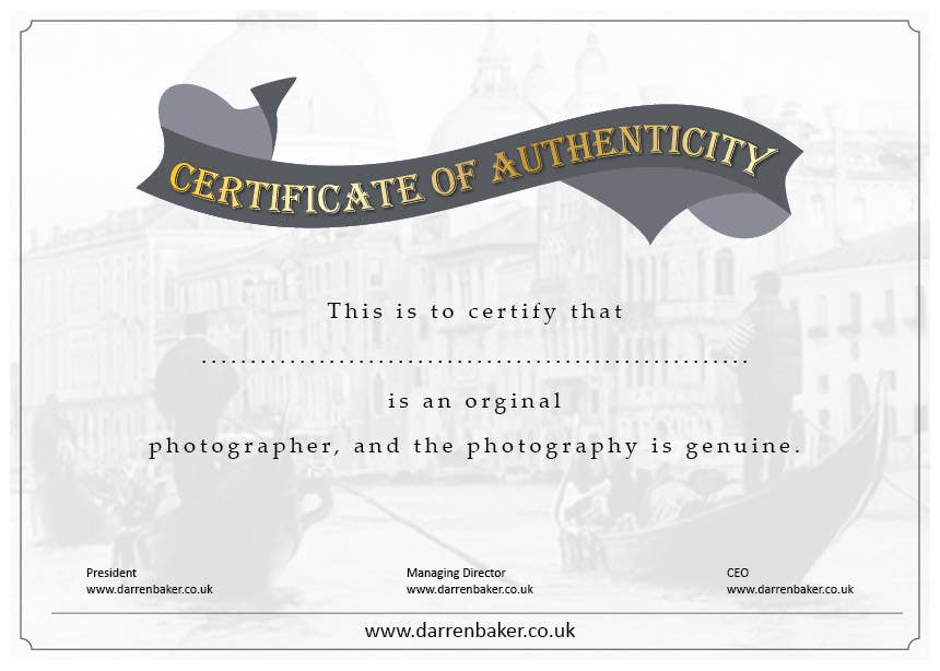 Proposition n°17 du concours Design a certificate