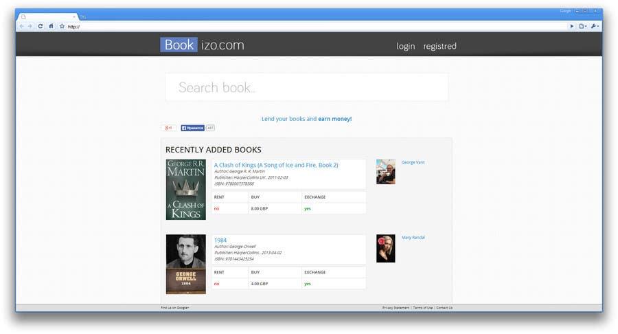 Penyertaan Peraduan #64 untuk Redesign Bookizo.com Homepage