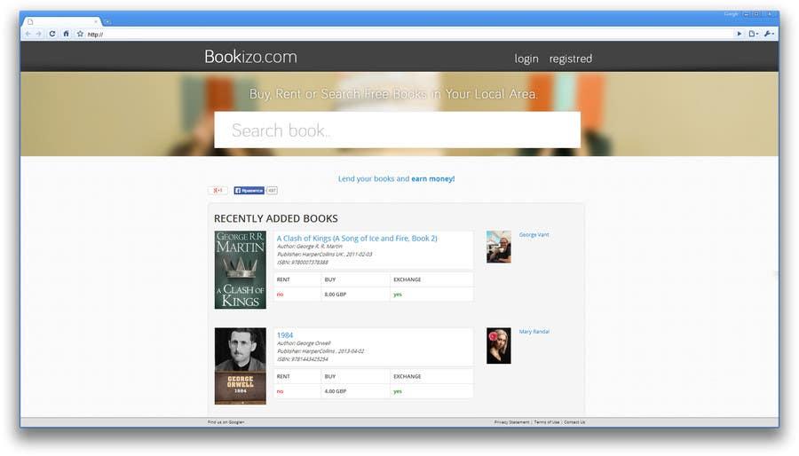 Penyertaan Peraduan #66 untuk Redesign Bookizo.com Homepage