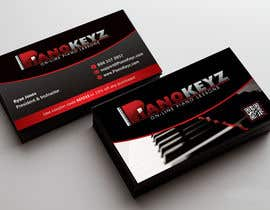 #18 for Design a Business Card for PianoKeyz, an online membership site for piano lessons af linokvarghese