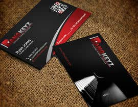 #47 for Design a Business Card for PianoKeyz, an online membership site for piano lessons af pipra99