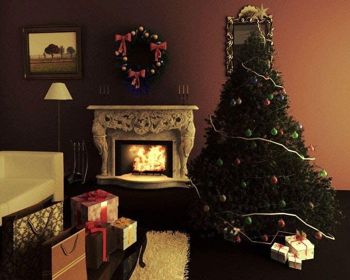 Inscrição nº 2 do Concurso para Create Animated 3D Christmas Scene - Example Provided