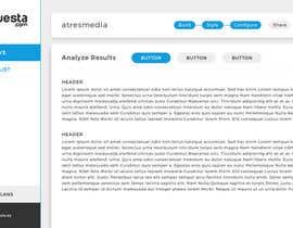 Nro 6 kilpailuun Design a web application layout mockup - only one page - first of many projects käyttäjältä Sofmynd